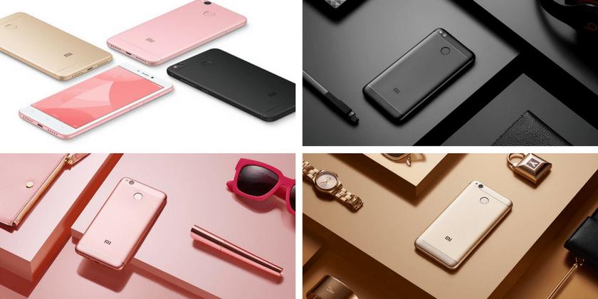 Xiaomi Redmi 4x. Цветовая гамма