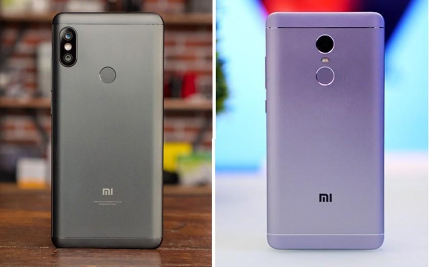 Xiaomu Redmi Note 5 и Redmi Note 4X. Вид сзади.