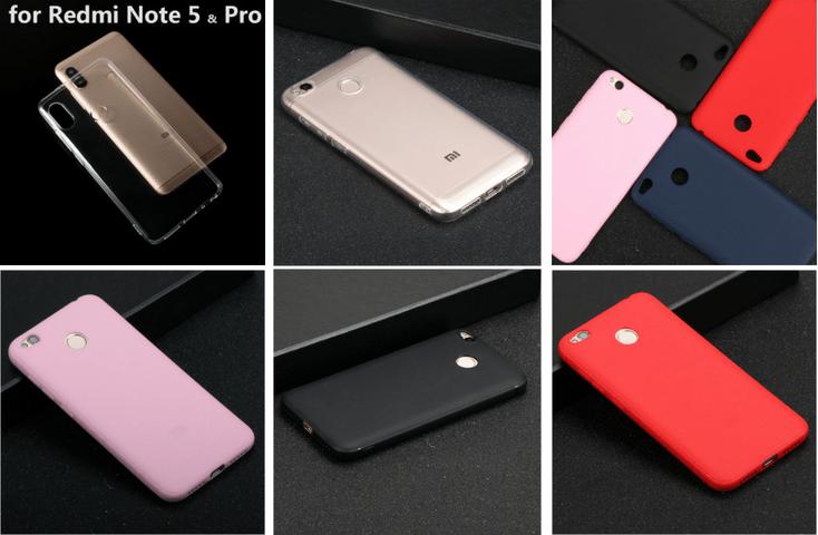Прстой силиконовый бампер для Xiaomi Redmi 5