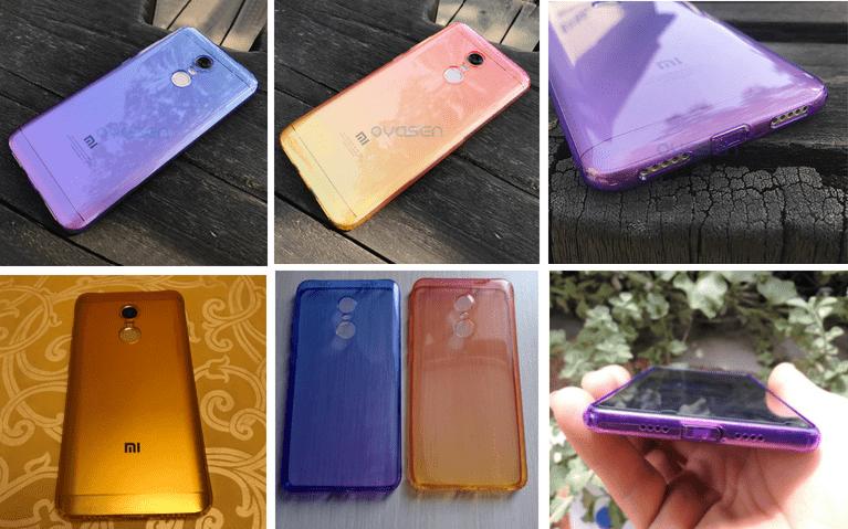 Цветной силиконовый бампер для Xiaomi Redmi 5