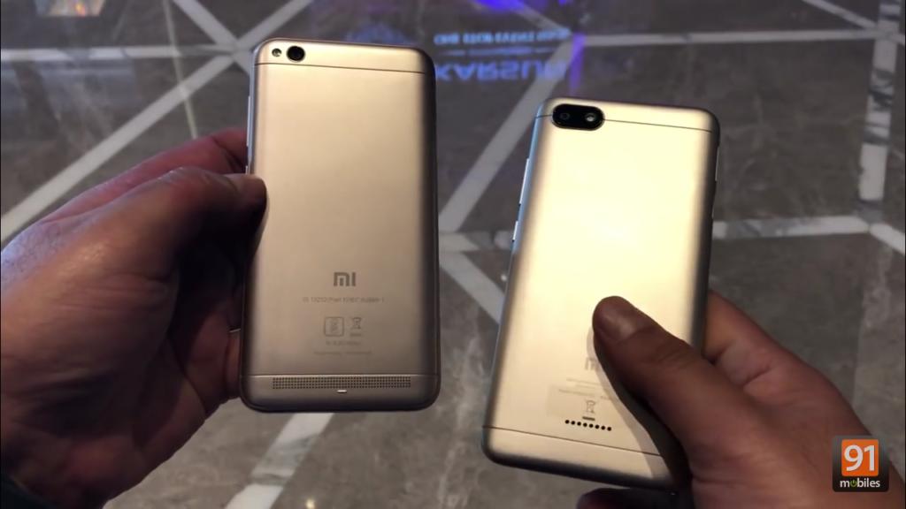 Xiaomi Redmi 5A и Redmi 6A. Вид сзади