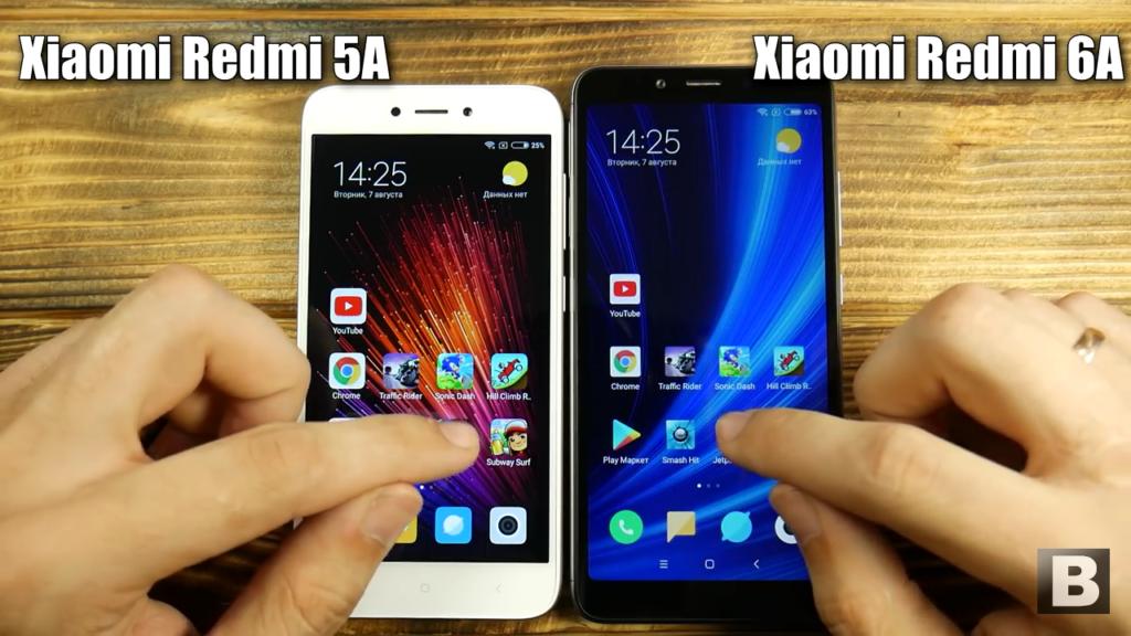 Xiaomi Redmi 5A и Redmi 6A. Экраны