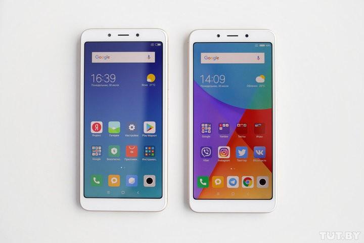 Redmi 6 и Redmi 6A. Экраны смартфонов