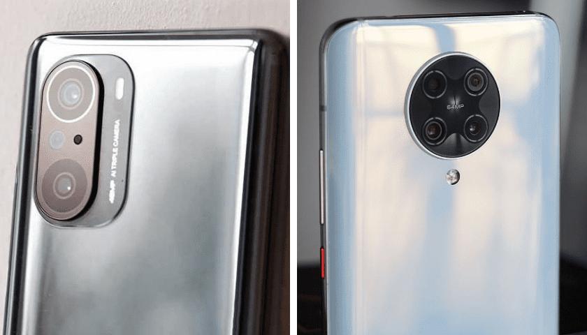 Смартфоны POCO F3 и POCO F2 Pro. Блоки фотокамер.