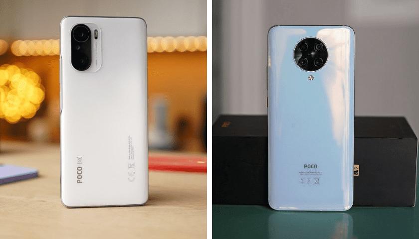 Смартфоны POCO F3 и POCO F2 Pro Задние панели.