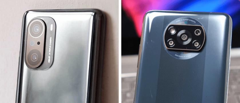 Смартфоны POCO F3 и POCO X3 Pro. Блоки камер.