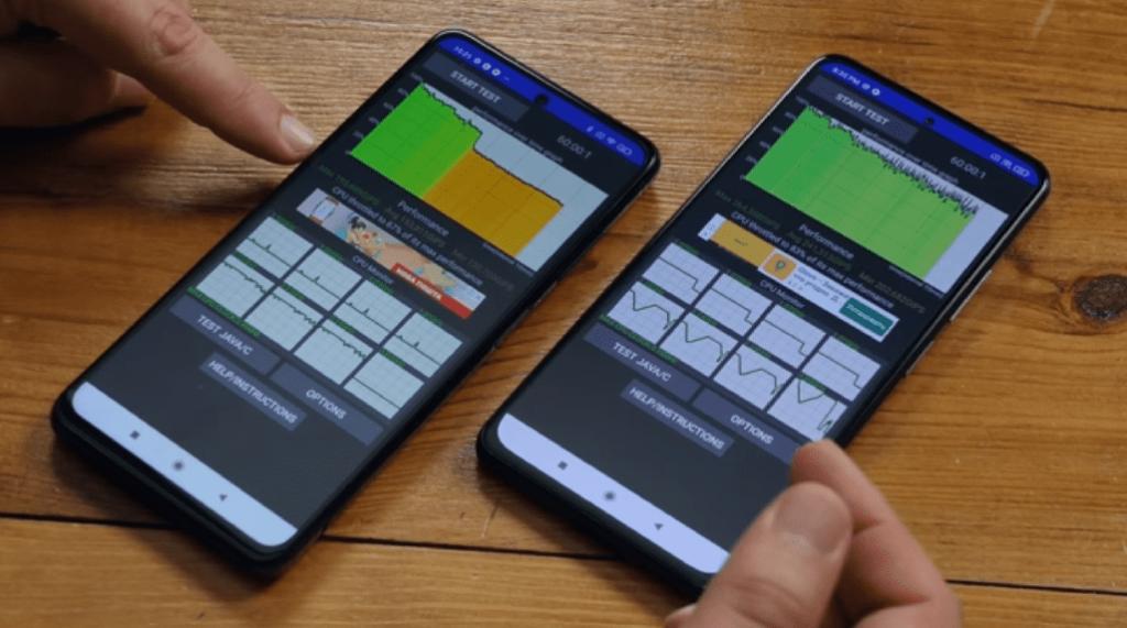 Смартфоны POCO X3 Pro и POCO F3. Результаты теста на троттлинг