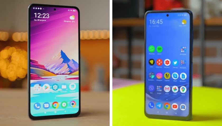 Смартфоны. POCO F3 и POCO X3 Pro. Экраны.