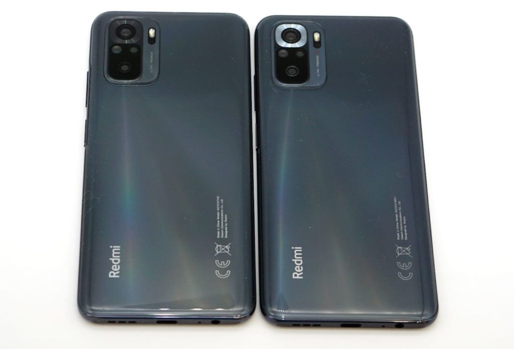 Смартфоны Redmi Note 10 и Redmi Note 10S. Задние панели.