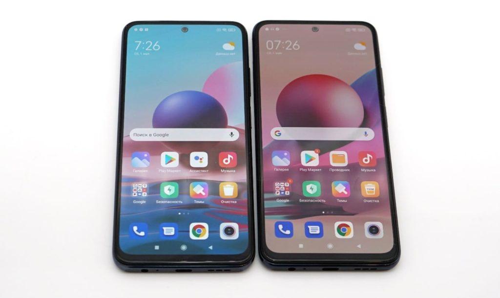 Смартфоны Redmi Note 10 и Redmi Note 10S. Экраны.