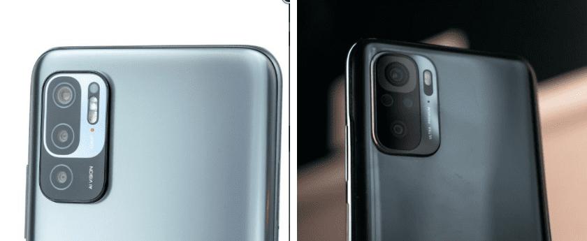 Смартфоны Redmi Note 10T и Redmi Note 10. Блоки камер.