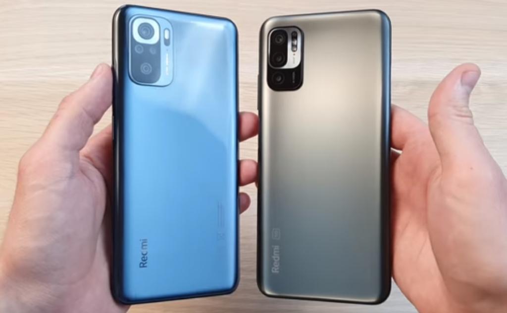 Смартфоны Redmi Note 10 и Redmi Note 10T. Задние панели.