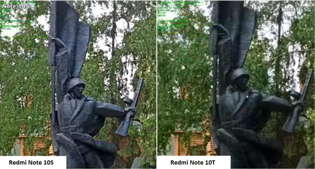 Детализация фото на Redmi Note 10T и Redmi Note 10S